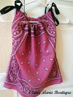 Pink Bandana Pillow Case Dress