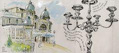 Urban Sketchers Yorkshire visit Buxton for their 50th Sketch-Walk.