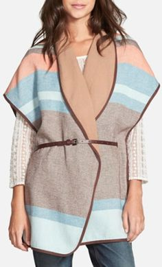 love this striped cape! perfect fore the fall and on sale until tomorrow!