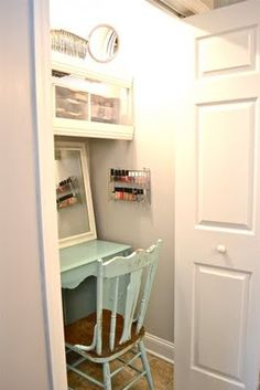 Spare closet? Make it into an extra desk or vanity
