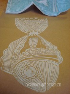 "Hand made & original design stamp ""Pez Grande"" by nora clemens-gallo"