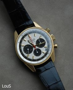 Zenith El Primero, Ref G 381,700 produced, 1969-1972. from LouS of chronocentric.com