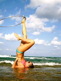 Foot hooping is one of my new experiments. I'll hold off on doing it in the ocean for now