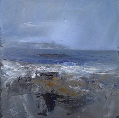 Across to the Heads of Ayr. 9 x 9 inch Oil on board