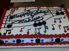 Musical Note birthday cake With mini OREOS and M & M