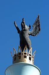 Flying pig statue, Sawyer Point, Cincinnati, OH