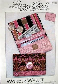 Wonder Wallet Pattern Gets A New Cover Girl – Lazy Girl Designs Fabric Wallet, Fabric Bags, Fabric Scraps, Scrap Fabric, Simple Wallet, Diy Wallet, Sewing Crafts, Sewing Projects, Sewing Ideas