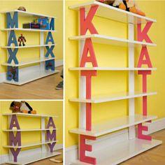 Personalised Name Bookshelves