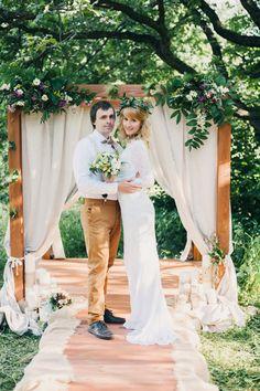 выездная регистрация в стиле Рустик, Свадебное оформление и флористика, Фото отчёты о свадьбах
