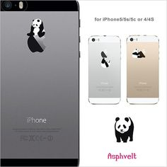 FLAT RATE SHIPPING Clear Case, iPhone 5s case,iphone 5c case, iPhone 4 case,iPhone 4s case, iPhone 5 case,apple logo,made in Japan,Panda on Etsy, $239.87
