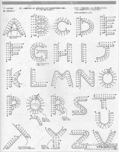 Crochet alphabet, can be used to hook his name oh.