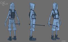 3d character hood