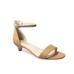 a0bf3b6d972 Vertigo Shoes Jacqui Camel brown Leather Sandals. Vertigo Shoes · Vertigo  Shoes Kitten Heels