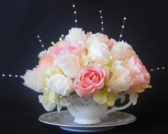 How to clean artificial silk flowers want the white vase and artificial flower arrangement pink white by beautyeverlasting 2495 mightylinksfo