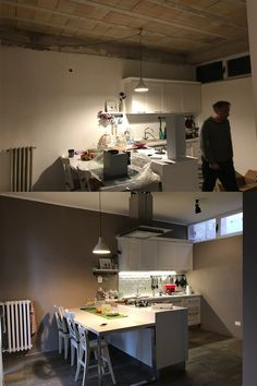 Kitchen before and after. Sofia Landini cucine