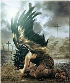 Don't be fooled once you cross over the Dark fallen angel can not come back Fantasy World, Dark Fantasy, Fantasy Art, Dark Angels, Fallen Angels, My Demons, Angels And Demons, Dark Gothic, Gothic Art