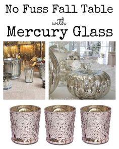 No Fuss Fall Table with DIY Mercury Glass | eBay