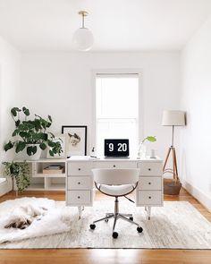 Our New Nashvilla // a home update   Vintage Desk, Luna Pendant from Schoolhouse Electric