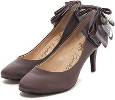 Bridget Birkin 踵リボンサテンエレガントパンプス / Wedding Guest Dress Style Guide picks on ShopStyle