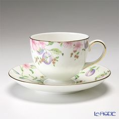 Wedgwood Sweet Plum tea cup and saucer (Lee)