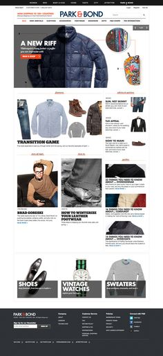 Fashion_Guys_Park & Bond by Eric Gant - interactive design