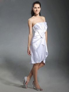 Satin trägerlos Mantel / Spalte Abendkleid mit geraffte