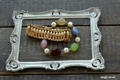 Vintage Rhinestone Pearl and Gemstone Wrap Style by simplymeart, $76.00