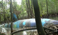 Abandoned  Drug Smuggling Submarine