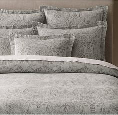 Castillo Medallion Cotton-Linen Duvet Cover