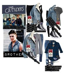 """""""Me in: 'the outsiders'"""" by j-j-fandoms ❤ liked on Polyvore featuring Naked & Famous, Levi's, Converse, NOVICA, MANGO, The Great, Madewell, rag & bone and Abercrombie & Fitch"""