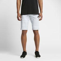 Nike Sportswear Advance 15 Men's Knit Shorts Size Medium (White)