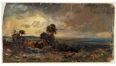 Hampstead: Stormy Sunset, John Constable, 1822