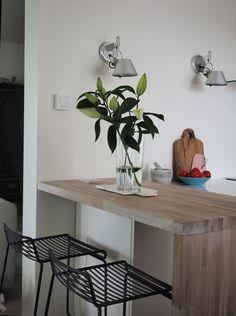 White kitchen // tolomeo // timeless living and design Desk, Kitchen, Furniture, Home Decor, Desktop, Cooking, Decoration Home, Room Decor, Table Desk
