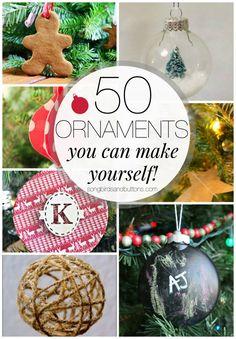 50 fun DIY Ornament Ideas you can make yourself via Kendall Rayburn