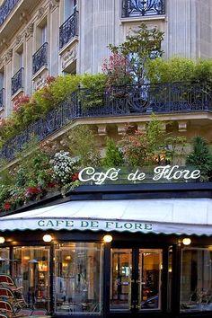 Cafe de Flore, Paris**.