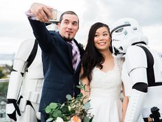 This Stylish Star Wars–Themed Wedding Featured Actual Stormtroopers | Photo by: Family Creative Imagery | TheKnot.com