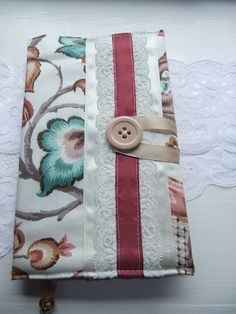 Satin Ribbon and Lace Fabric A5 Journal Notebook Cover