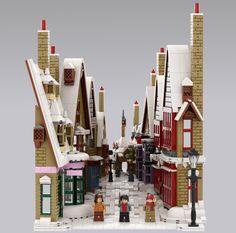 Lego Harry Potter, Harry Potter Dolls, Lego Hogwarts, Perspective Forcée, Diorama, Lego Online, Casa Lego, Lego Village, Lego Winter