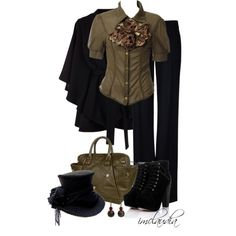 Black Top Hat, created by imclaudia-1 on Polyvore