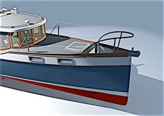Hull House, The Wheelhouse, Wood Boat Plans, Classic Wooden Boats, Deck Boat, Drop Leaf Table, Boat Design, Power Boats, Boat Building