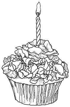 59 best outlines cupcakes images coloring pages painting on Blue Flower Birthday Cake free birthday cupcake printable coloring book pages printable coloring pages cupcake art rose