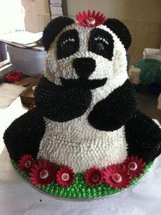 Panda Bear themed birthday cake