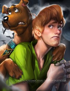 Shaggy and Scooby Doo Gros Pull Orange, Arte Disney, Disney Art, Shaggy Y Scooby, Cartoon Art, Cartoon Characters, Sakimichan Art, Scooby Doo Mystery Incorporated, Film Anime
