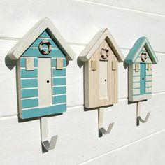Beach Hut Hooks - Set Of 3 - CoastalHome.co.uk: Coastal Living