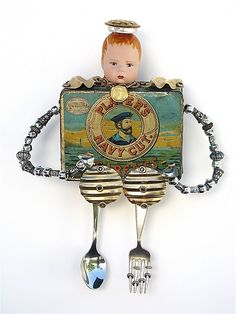 """Tiny Nigel Navy""  Mixed-Media Wall Art  Created by Dale Brown 350."