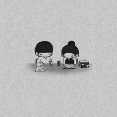 Cute Love Photos, Cute Love Gif, Cute Love Wallpapers, Cute Couple Wallpaper, Tumblr Cute Couple, Animated Love Images, Cute Love Cartoons, Couple Illustration, Korean Artist