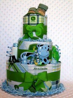 John Deere diaper cake idea