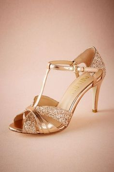 Rose Gold Lucia T-Straps | BHLDN
