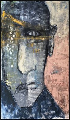 It's Not Obsess Painting by Kris Gebhardt Car Painting, Figure Painting, Painting & Drawing, Face Art, Art Faces, The Artist's Way, Painted Faces, Abstract Portrait, Meet The Artist