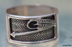 Vintage 1980's Southwestern Sterling Silver Cigar Band Ring - Old Store Stock Great Thumb Ring